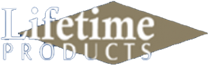 Lifetime Products logo by Virden Products in Amarillo Texas